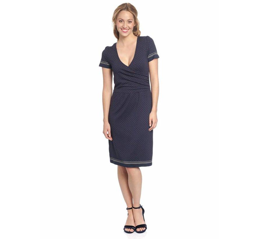 Kleid | Deauville Wrapdress  | Blue Allover