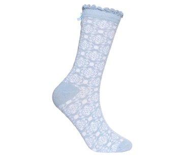Sorgenfri Sylt Socken | Irma Nordic Flower-light blue