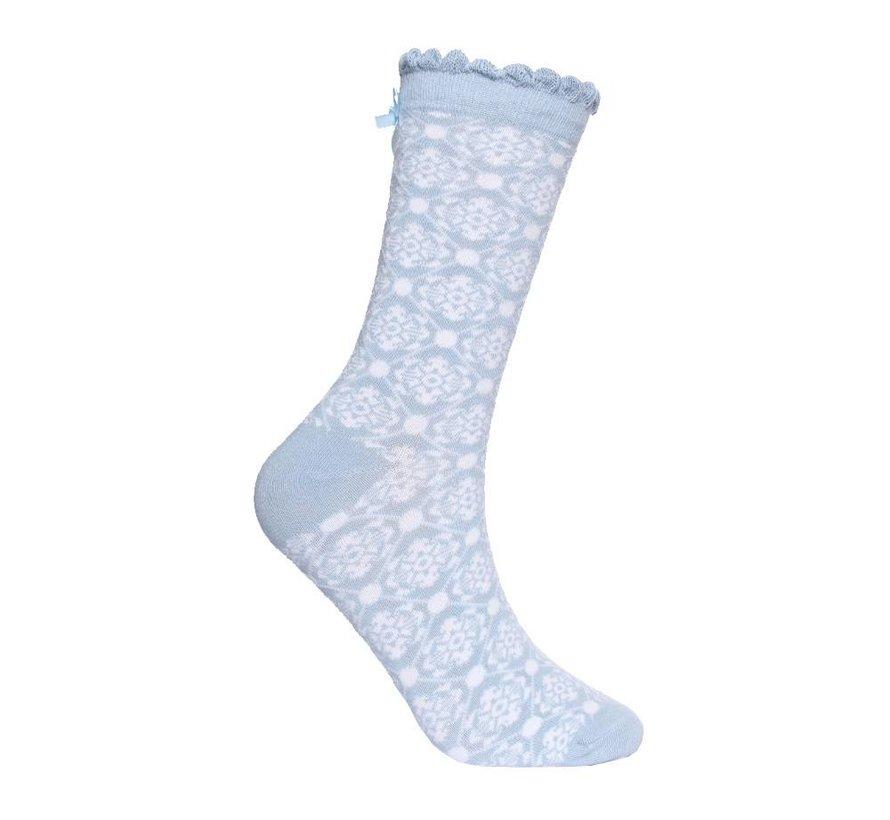Socken | Irma Nordic Flower-light blue
