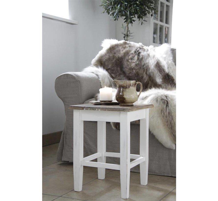 Hocker mit rustikaler Sitzfläche | Shabby Chic