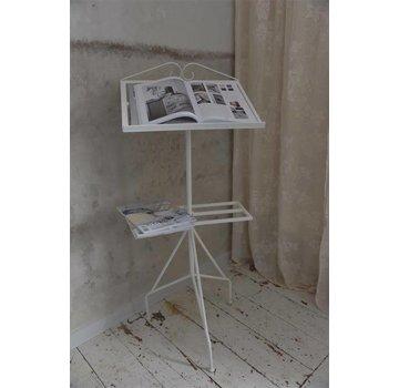 Jeanne d`Arc Living Notenständer mit Ablage | Shabby Chic | Cremeweiss