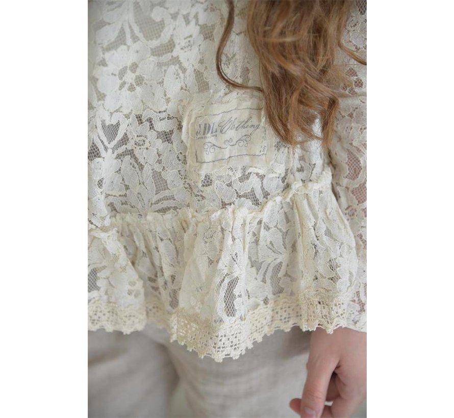 Spitzenbluse | Pure glory -Cream