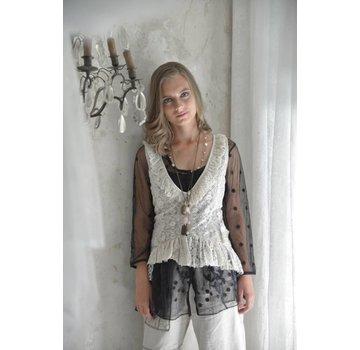 Jeanne d`Arc Living Spitzengilett | Faithful soul - Cream