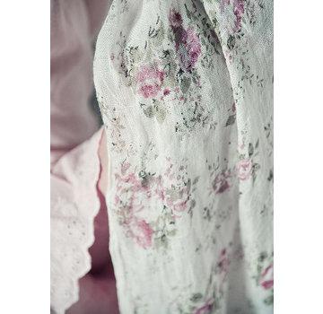 Jeanne d`Arc Living Schal | Sweet temptations - White Rose