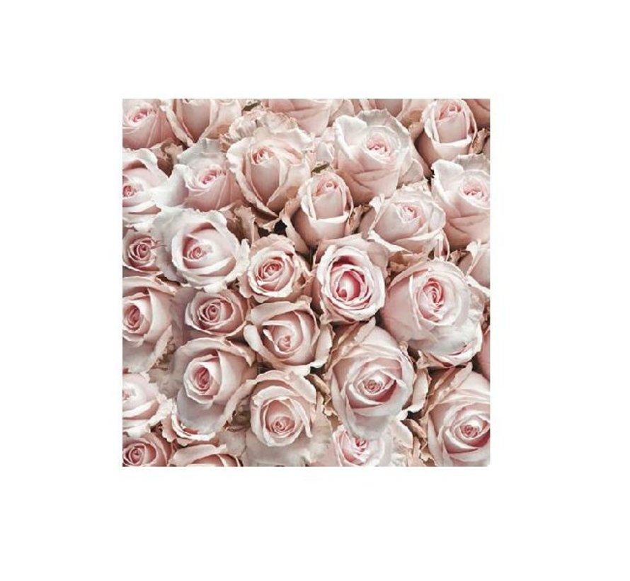 Servietten   Pastel Roses   25x25cm - FSC