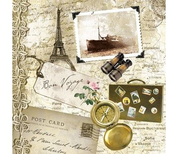 Servietten | Bon Voyage | 30x30cm - FSC