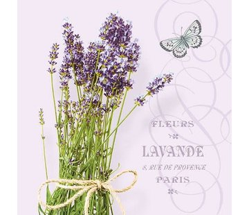 Servietten | Bunch Of Lavender Lila | 30x30cm - FSC