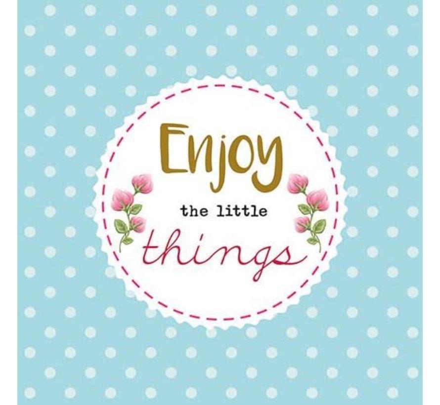 Servietten | Enjoy The Little Things | 30x30cm - FSC