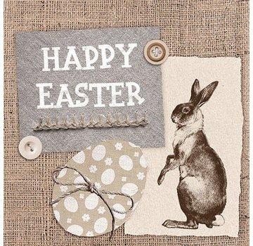 Servietten | Easter Linen Taupe | 30x30cm - FSC