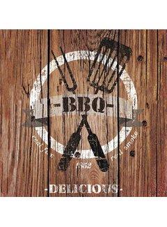 Servietten | Barbecue Time Brown | 30x30cm - FSC