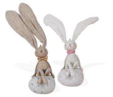 Osterhase auf Ei | Pierre und Cher | 2 Farben