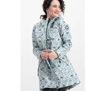 Blutsgeschwister Softshell-Parka | wild weather long anorak - delft porcelain