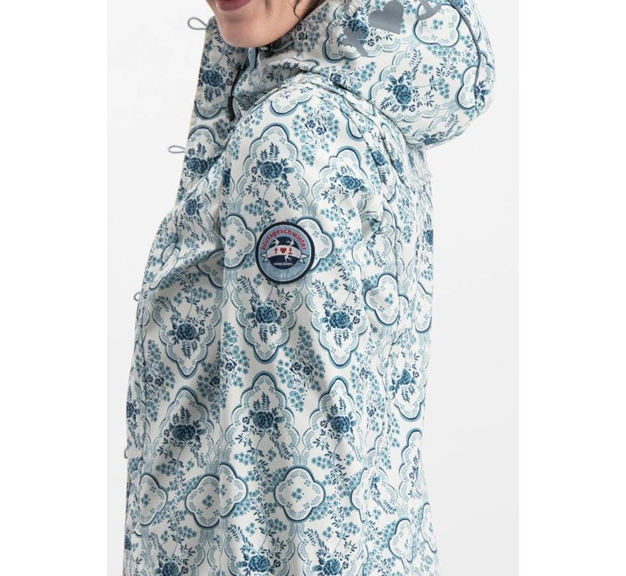 Softshell-Parka | wild weather long anorak - delft porcelain