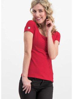 Blutsgeschwister Shirt | logo shortsleeve feminin uni - red light
