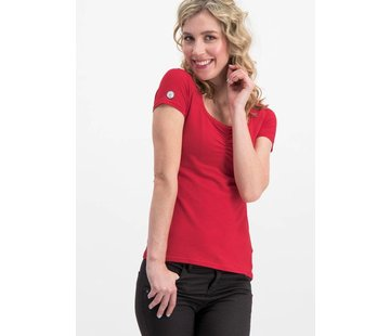 Blutsgeschwister Shirt | logo shortsleeve feminin uni - red light