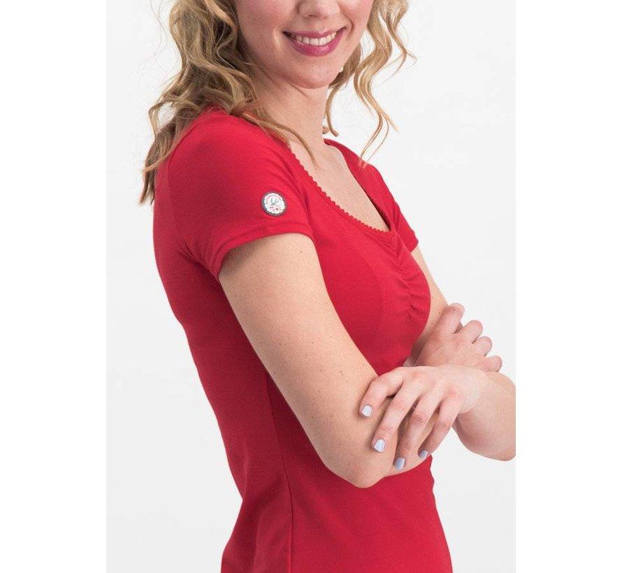 Shirt | logo shortsleeve feminin uni - red light