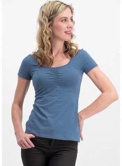Blutsgeschwister Shirt | logo shortsleeve feminin uni - blue skyline