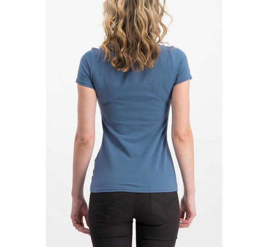 Shirt | logo shortsleeve feminin uni - blue skyline
