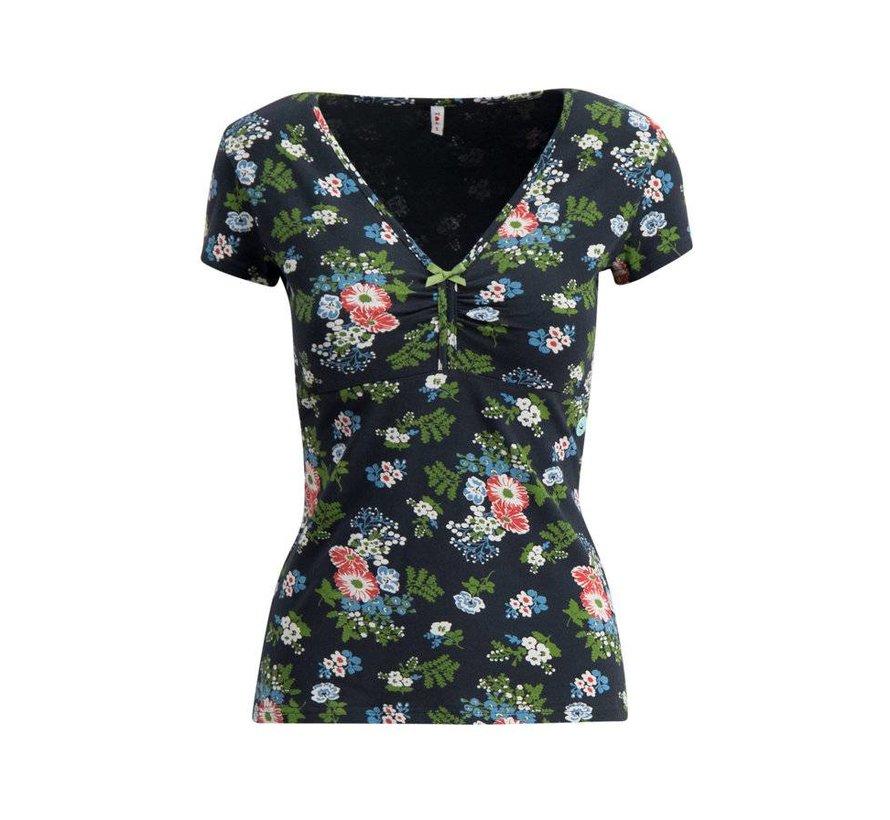 Shirt   lucky frontluke tee - vagabund flowers