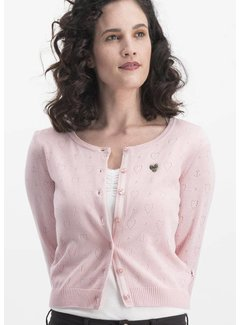 Blutsgeschwister Cardigan | logo wonderwaist cardy - rose hope heart