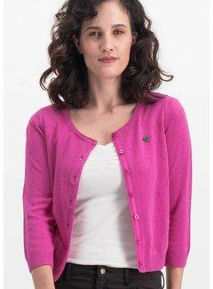 Blutsgeschwister Cardigan | logo wonderwaist cardy - pink hope heart