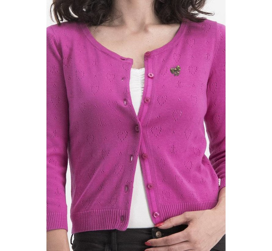 Cardigan | logo wonderwaist cardy - pink hope heart