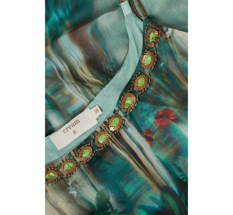 Kleid | Jeanne Long Dress - Malachite Green