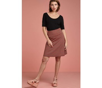 King Louie Rock | Border Skirt Vongole - Beet Red