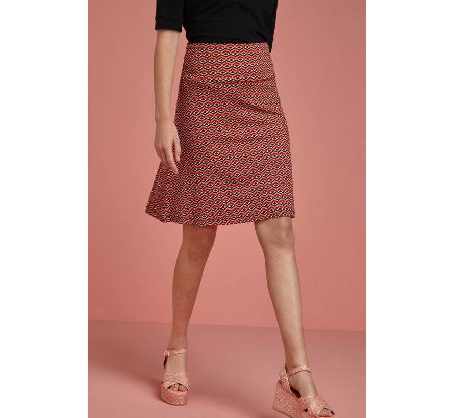 Rock | Border Skirt Vongole - Beet Red