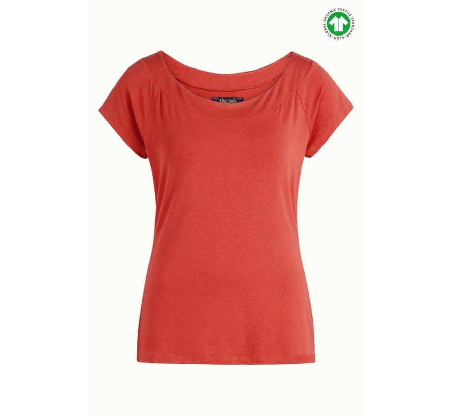 Shirt | Sarah Top - Ginger Orange