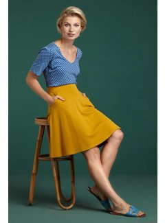 King Louie Rock | Sofia Skirt Milano Crepe - Sunset Yellow