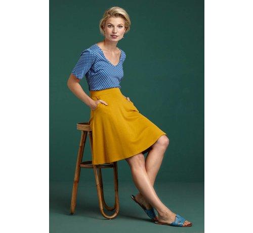 King Louie Rock | Sofia Skirt Milano Crepe - Sunset Yellow
