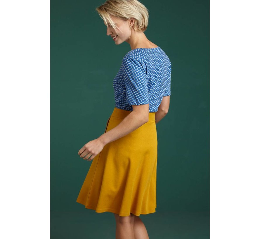 Rock | Sofia Skirt Milano Crepe - Sunset Yellow