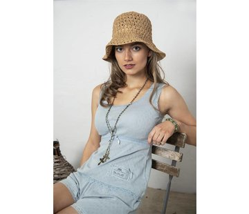 Jeanne d`Arc Living Top | Joyful moods - Wide strap - Dusty blue