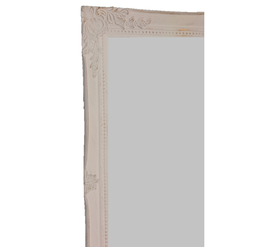 Spiegel | Miro | Antikweiss-Gold | 46X56