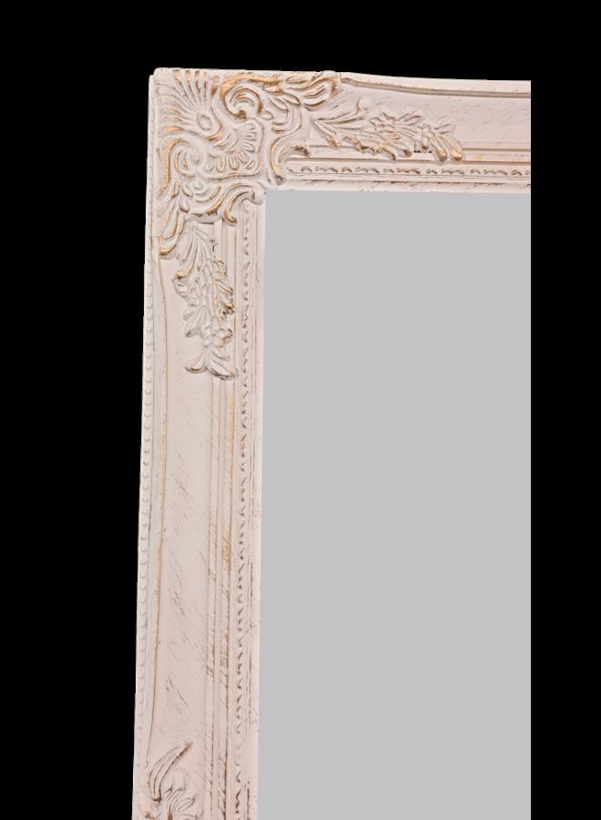 Stehspiegel in Antikweiss-Gold im Shabby chic - 40x160