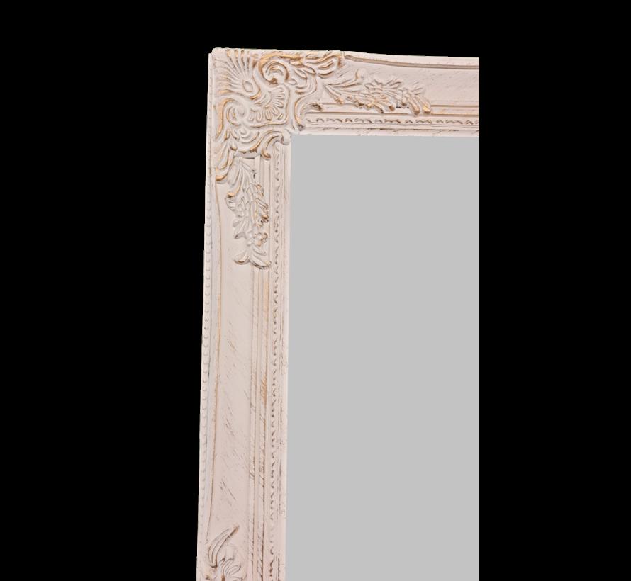 Stehspiegel | Antikweiss-Gold | Shabby chic | 40x160