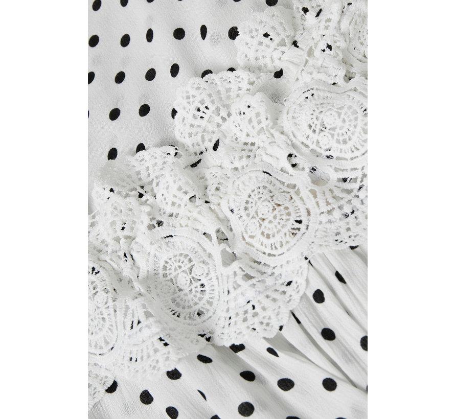 Bluse | Bea Dot Blouse - Chalk
