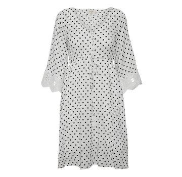 Cream Clothing Kleid | Bea Dot Dress - Chalk