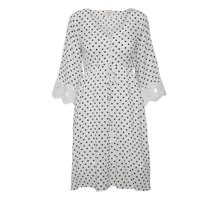 Kleid | Bea Dot Dress - Chalk