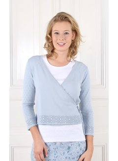 Sorgenfri Sylt Wickelstrickjacke | Leni-light blue