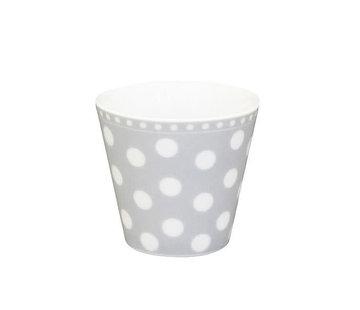 Krasilnikoff Espresso Tasse | Happy Mug-Grey Dot