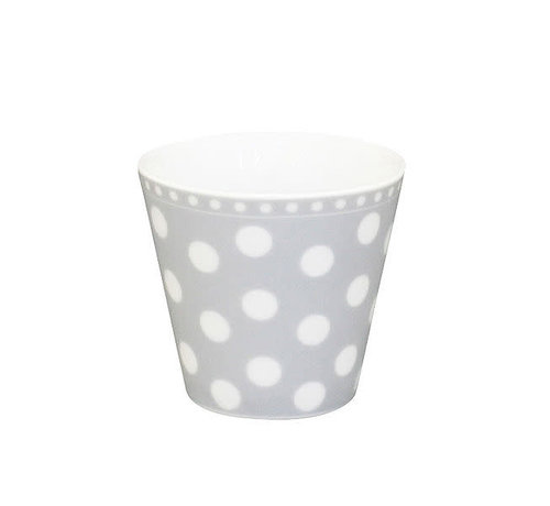 Krasilnikoff Espresso Tasse   Happy Mug-Grey Dot