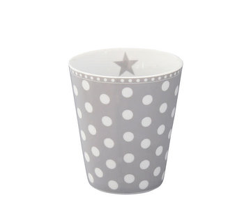 Krasilnikoff Tasse | Happy Mug-Grey Dot