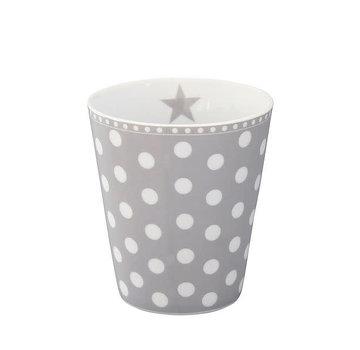 Krasilnikoff Tasse | Happy Mug-Grey Dot
