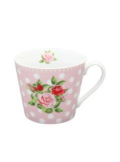 Krasilnikoff Tasse | Happy Cup-Dots n`Roses