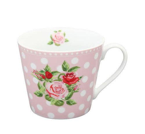 Krasilnikoff Tasse   Happy Cup-Dots n`Roses