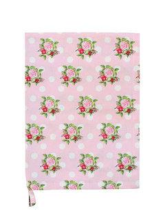 Krasilnikoff Küchentuch | Tea Towel-Dots n`Roses