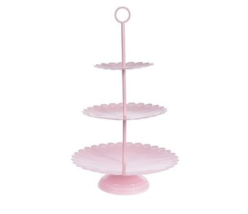 Etagère | 3er Telleretagere 30x53 cm- Pink