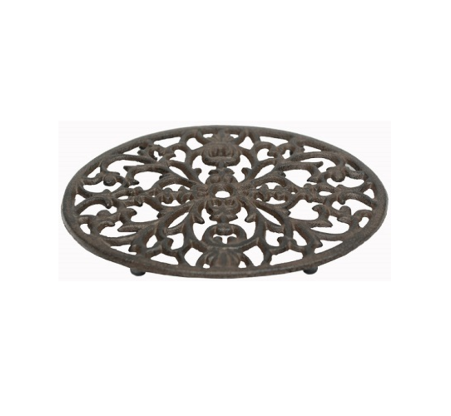 Pfannenuntersetzer Oval Gusseisen | Vintage Braun